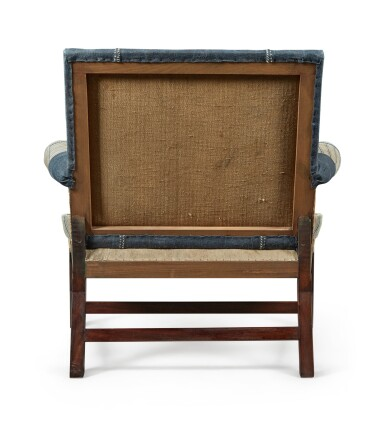 View 5. Thumbnail of Lot 13. A UNIQUE REYNOLDS MAHOGANY AND STAINED BEECH ARMCHAIR MADE BY HOWE, MODERN.