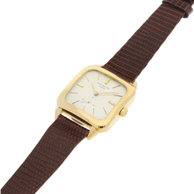 View 6. Thumbnail of Lot 143. REFERENCE 2540 A YELLOW GOLD SQUARE AUTOMATIC WRISTWATCH, MADE IN 1957.