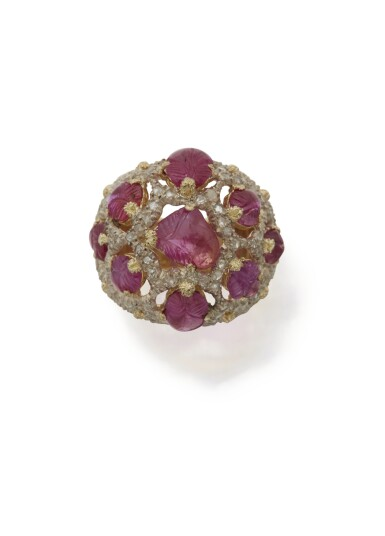 RUBY AND DIAMOND RING, BUCCELLATI