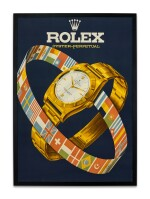 ROLEX | A LARGE ADVERTISING POSTER, CIRCA 1952