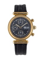 GÉRALD GENTA | REF G.3188.7 YELLOW GOLD CHRONOGRAPH WRISTWATCH WITH DAY AND DATE CIRCA 1990