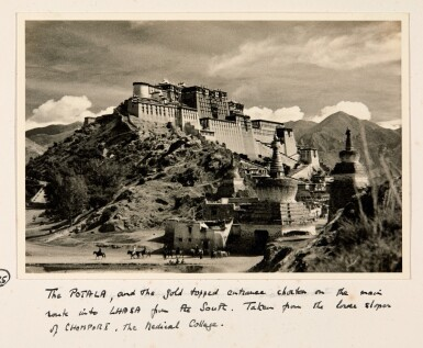 View 1. Thumbnail of Lot 182. Tibet—Shepheard and Jack | Two albums of photographs of Tibet, 1938, with diary transcript and related material.