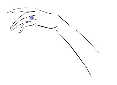 View 4. Thumbnail of Lot 1015. Sapphire and diamond ring.