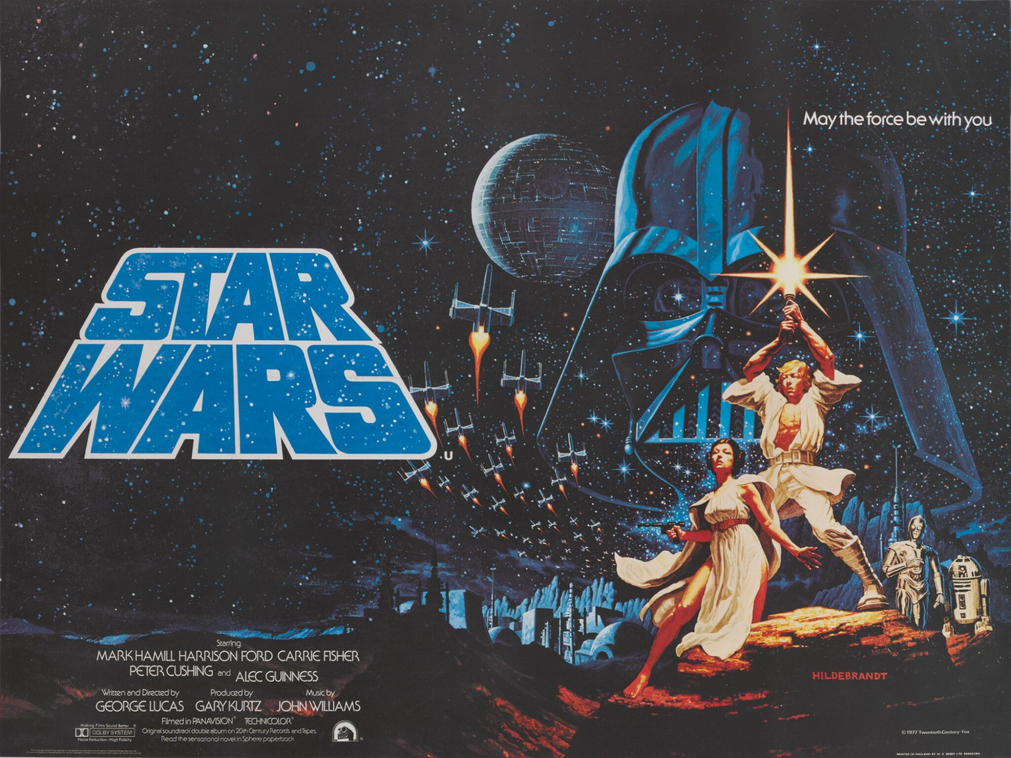 STAR WARS, BRITISH RELEASE POSTER, THE HILDEBRANDT BROTHERS, 1977