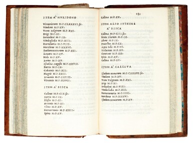 Pomponius Mela, Opera, Venezia, Aldus, 1518, later calf