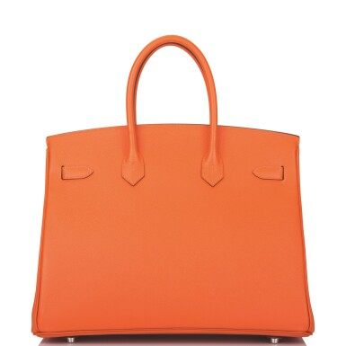 View 5. Thumbnail of Lot 65. Hermès Feu Birkin 35cm of Epsom Leather with Palladium Hardware .