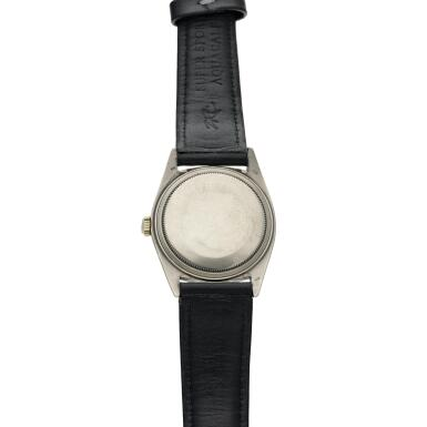View 5. Thumbnail of Lot 18. Reference 1601 Datejust  A white gold automatic wristwatch with date and lapis lazuli dial, Circa 1977 .
