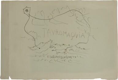 PABLO PICASSO | TAUROMAQUIA: PAYSAGE AVEC TAUREAU ET CERF-VOLANT (B. 950; BA. 970)