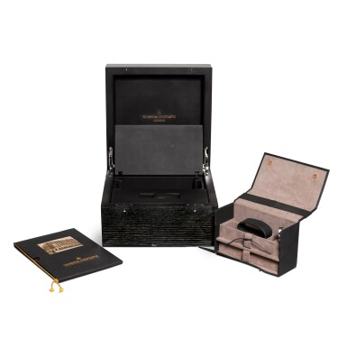 """View 6. Thumbnail of Lot 12. Unique """"Les Cabinotiers"""" reference 30015/000R-9608 A unique 18k pink gold manually wound minute repeating tourbillon with hidden perpetual calendar with moonphases beneath an officer case-back, circa 2011."""