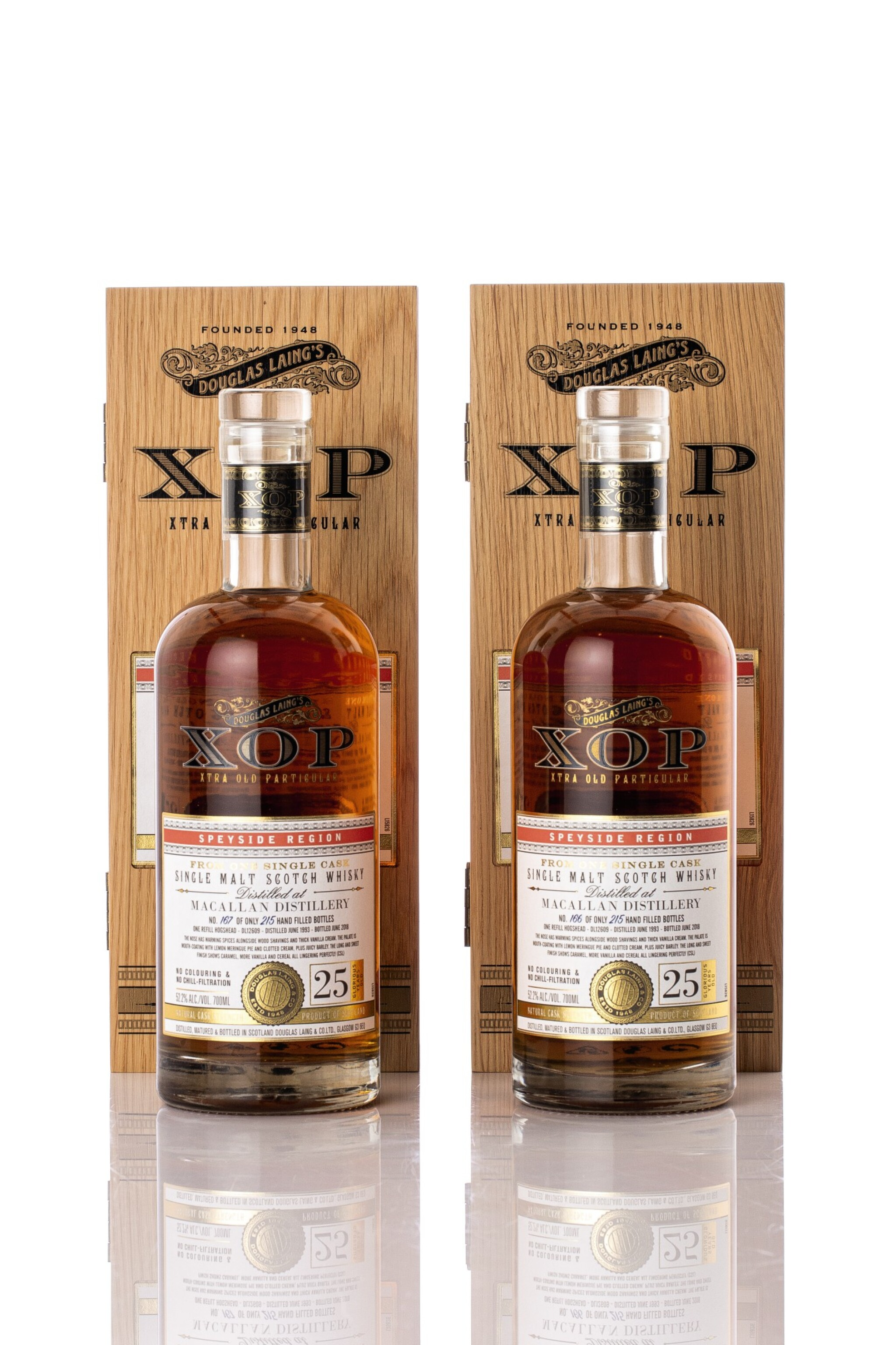 View full screen - View 1 of Lot 5527. Macallan Douglas Laing XOP 25 Year Old 52.5 abv 1993 (2 BT70).