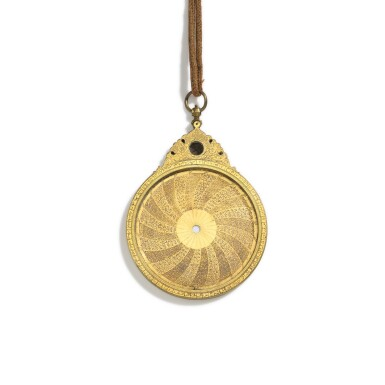 View 4. Thumbnail of Lot 67. A fine Safavid gilt-brass astrolabe made for Imam Mirza Razi al-Din Muhammad Husayni al-Mawsawi (d.1701), signed by Muhammad Husayn ibn Muhammad Baqir al-Yazdi, decorated by Muhammad Mahdi al-Yazdi, Persia, circa 1660.