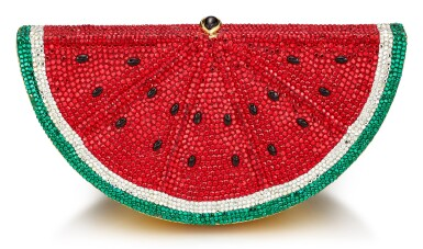 JUDITH LEIBER | 'SLICE WATERMELON' MULTICOLOURED CRYSTAL CLUTCH EVENING BAG | Judith Leiber | 'Slice Watermelon' 彩色水晶晚裝手袋