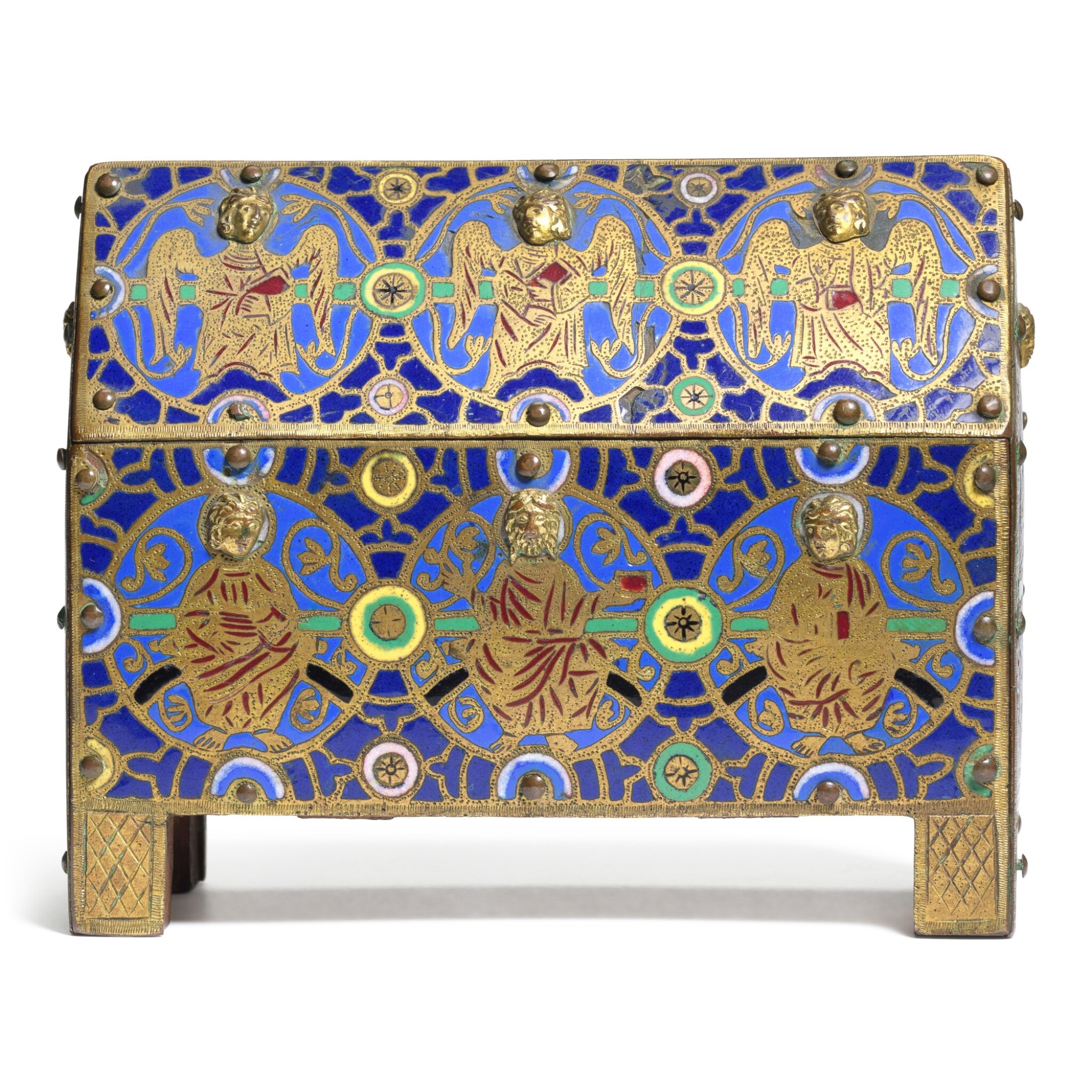 View full screen - View 1 of Lot 11. French, 19th century, In Limoges, 13th century Style | Casket.