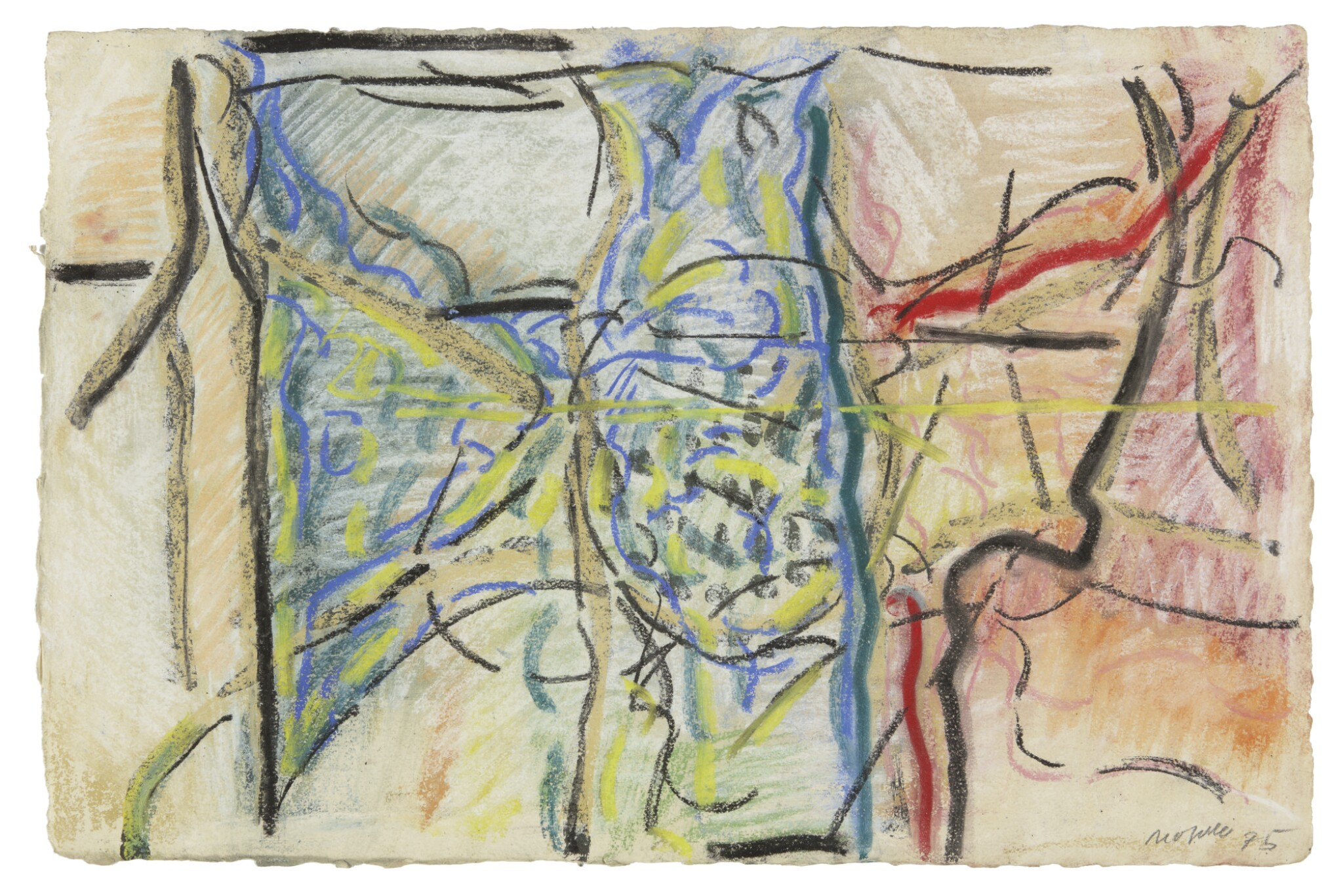View full screen - View 1 of Lot 14. JEAN-PAUL RIOPELLE   UNTITLED (PM 24).