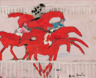 View 1. Thumbnail of Lot 44. Les chevaux rouges.
