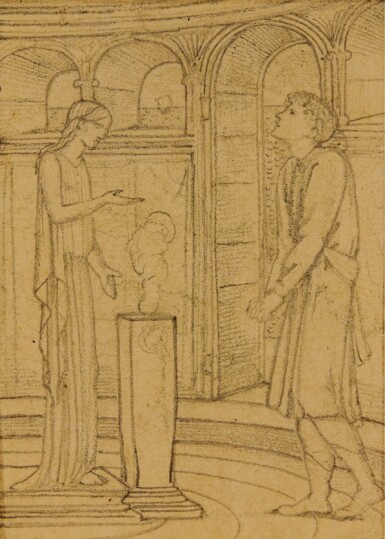 View 1. Thumbnail of Lot 13. SIR EDWARD COLEY BURNE-JONES, BT., A.R.A., R.W.S.   STUDIES FOR THE STORY OF PSYCHE.