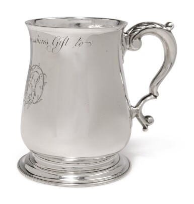 View 3. Thumbnail of Lot 323. A GEORGE II SILVER MUG, JOHN FOSSEY, LONDON, 1735.