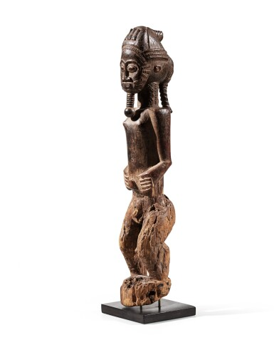 View 3. Thumbnail of Lot 206. Statue, Baulé, Côte d'Ivoire | Baule figure, Côte d'Ivoire.