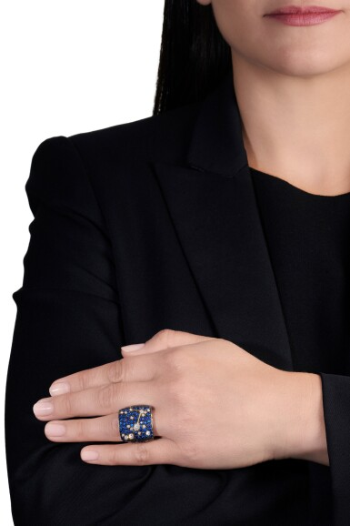 View 5. Thumbnail of Lot 104. Diamond ring and a sapphire and diamond ring.