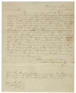 Florida: Dade, Francis Langhorne. Autograph letter signed to General Roger Jones, 14 Dec 1835