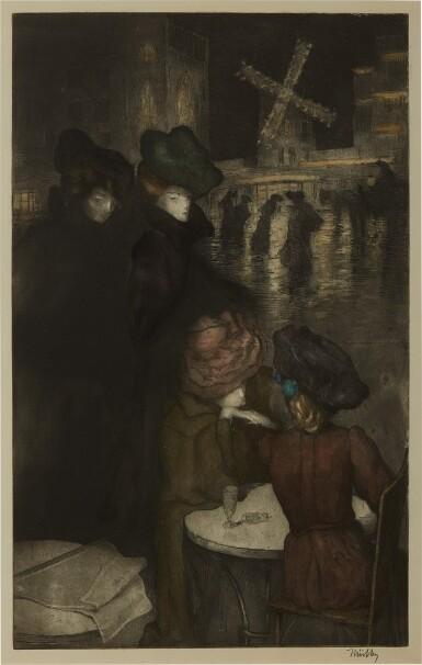 View 3. Thumbnail of Lot 127. Au Moulin Rouge; and Devant la lampe.