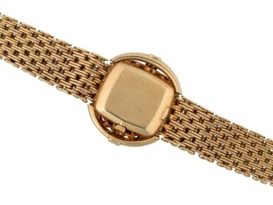 PATEK PHILIPPE | REF 4319/1 YELLOW GOLD AND DIAMOND-SET BRACELET WATCH WITH ONYX DIAL MADE IN 1977