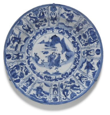 View 6. Thumbnail of Lot 9. A SET OF SIX BLUE AND WHITE 'KRAAK' DISHES MING DYNASTY, WANLI PERIOD.