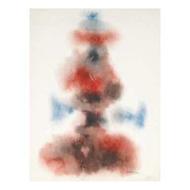 NORMAN WILFRED LEWIS | RED AND BLUE CLOUD LIKE