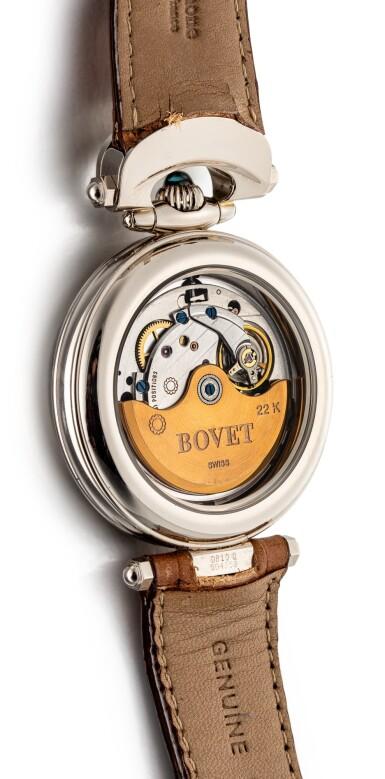 "View 3. Thumbnail of Lot 2245.  BOVET | FLEURIER, REFERENCE FL0147   A WHITE GOLD WRISTWATCH WITH JAPANESE URUSHI DIAL, CIRCA 2007 "" | 播威 | Fleurier 型號FL0147 白金腕錶,備日式漆繪錶盤,錶殼編號D810.0004359,約2007年製""."