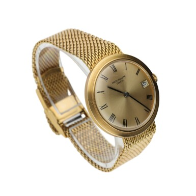 View 2. Thumbnail of Lot 135. PATEK PHILIPPE  |  REFERENCE 3565/1 'IOS' A YELLOW GOLD AUTOMATIC BRACELET WATCH WITH DATE, MADE IN 1968.