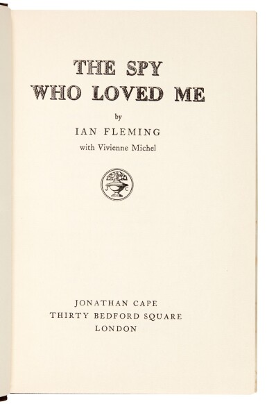 View 6. Thumbnail of Lot 52. FLEMING | The Spy Who Loved Me, 1962, first edition, presentation copy to Robert Kennedy.
