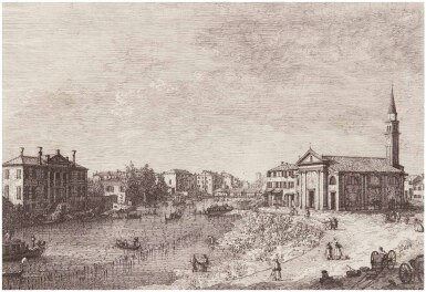 View 1. Thumbnail of Lot 23. GIOVANNI ANTONIO CANAL, CALLED CANALETTO | AL DOLO (BROMBERG 4).