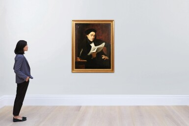 View 5. Thumbnail of Lot 65. Portrait of a musician reading a score .