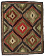 TWO AMERICAN HOOKED RUGS, EARLY 20TH CENTURY