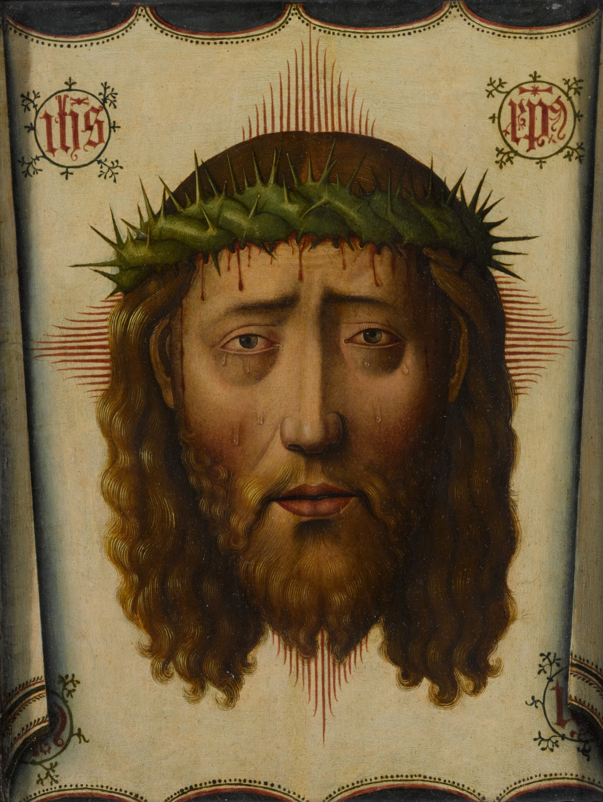 View full screen - View 1 of Lot 4. MANNER OF PEDRO DE CÓRDOBA | THE VEIL OF VERONICA: THE HEAD OF CHRIST.