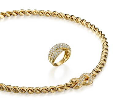 View 2. Thumbnail of Lot 9175.  GOLD AND DIAMOND DEMI PARURE, VAN CLEEF & ARPELS | K金 配 鑽石 項鏈及戒指套裝, 梵克雅寶(Van Cleef & Arpels).