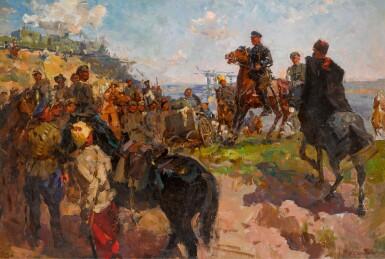 BORIS TIKHONOVICH SPORYKHIN | Voroshilov on the Road to Tsaritsyn
