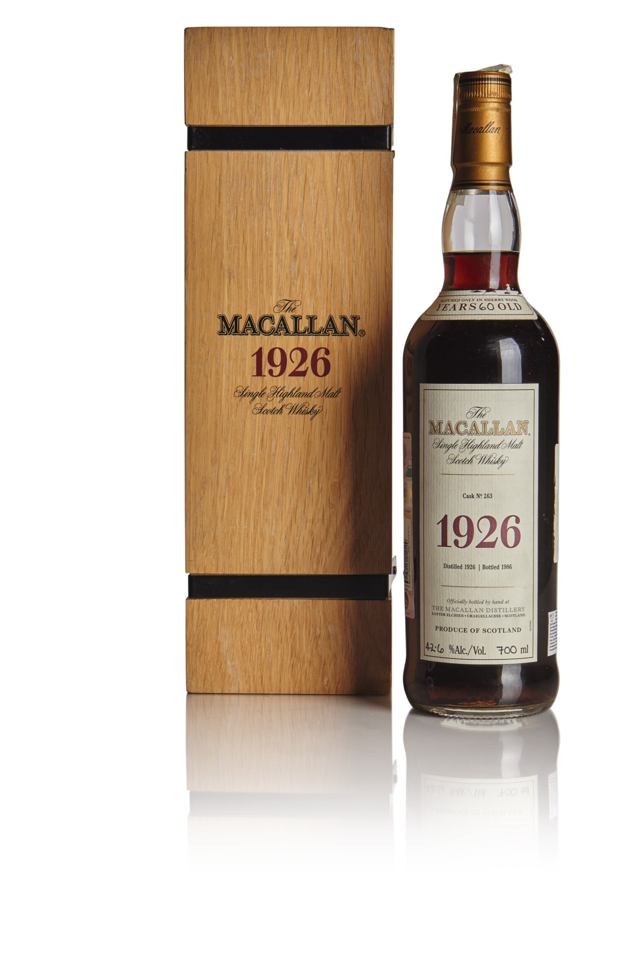 View full screen - View 1 of Lot 160. THE MACALLAN FINE & RARE 60 YEAR OLD 42.6 ABV 1926 .