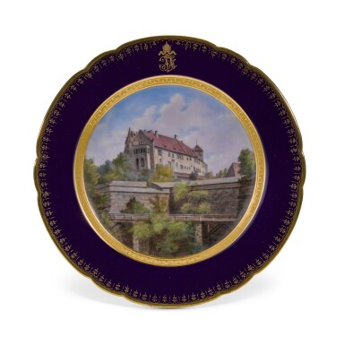 View 22. Thumbnail of Lot 106. An Imperial presentation set of twelve Hutschenreuther porcelain plates, circa 1890.
