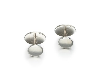 View 3. Thumbnail of Lot 8003. PATEK PHILIPPE | A PAIR OF WHITE GOLD CUFFLINKS, CIRCA 2000.