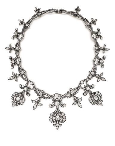 View 2. Thumbnail of Lot 1690. Diamond Tiara / Necklace, Late 19th Century | 鑽石冠冕 / 項鏈, 19世紀末.