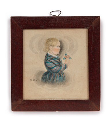 View 7. Thumbnail of Lot 6. Group of Five Miniature Portraits of the Pomeroy Family.