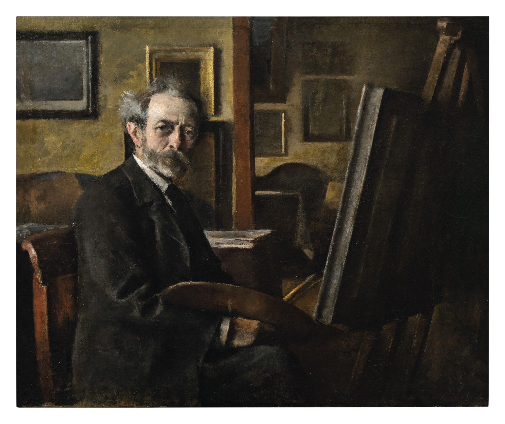 View full screen - View 1 of Lot 136. PETER ALFRED SCHOU  |  SELF PORTRAIT.
