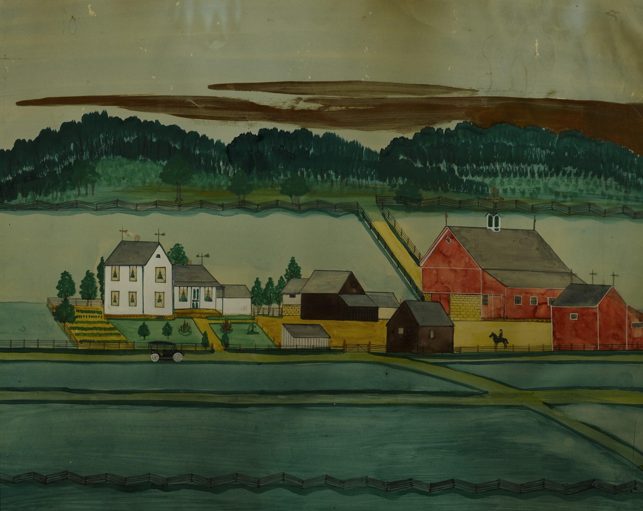 View full screen - View 1 of Lot 1403. PAUL A. SEIFERT | FARM LANDSCAPE   .