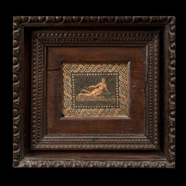View 1. Thumbnail of Lot 117. Italian, early 19th century | Mosaic with Venus on a Dolphin.