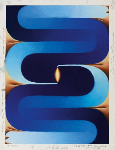 View 1. Thumbnail of Lot 537. Loie Hollowell 洛伊∙霍洛韋爾 | Stacked Lingam (blue, orange, flesh) 堆疊的林伽 (藍,橘,膚色).