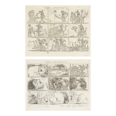 PABLO PICASSO | SUEÑO Y MENTIRA DE FRANCO (B. 297; BA. 615 II B E)