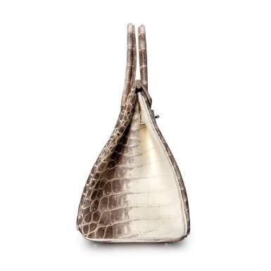 View 3. Thumbnail of Lot 1871. White Himalaya Matte Niloticus Crocodile Birkin 30 Palladium Hardware, 2016 | 愛馬仕 | 白色啞光尼羅河鱷魚皮30公分喜馬拉雅柏金包配鍍鈀金屬件,2016年.