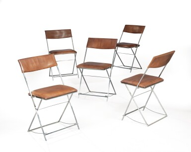 PHILIPPE HIQUILY | SET OF FIVE CHAIRS, 1968 [SUITE DE CINQ CHAISES, 1968]