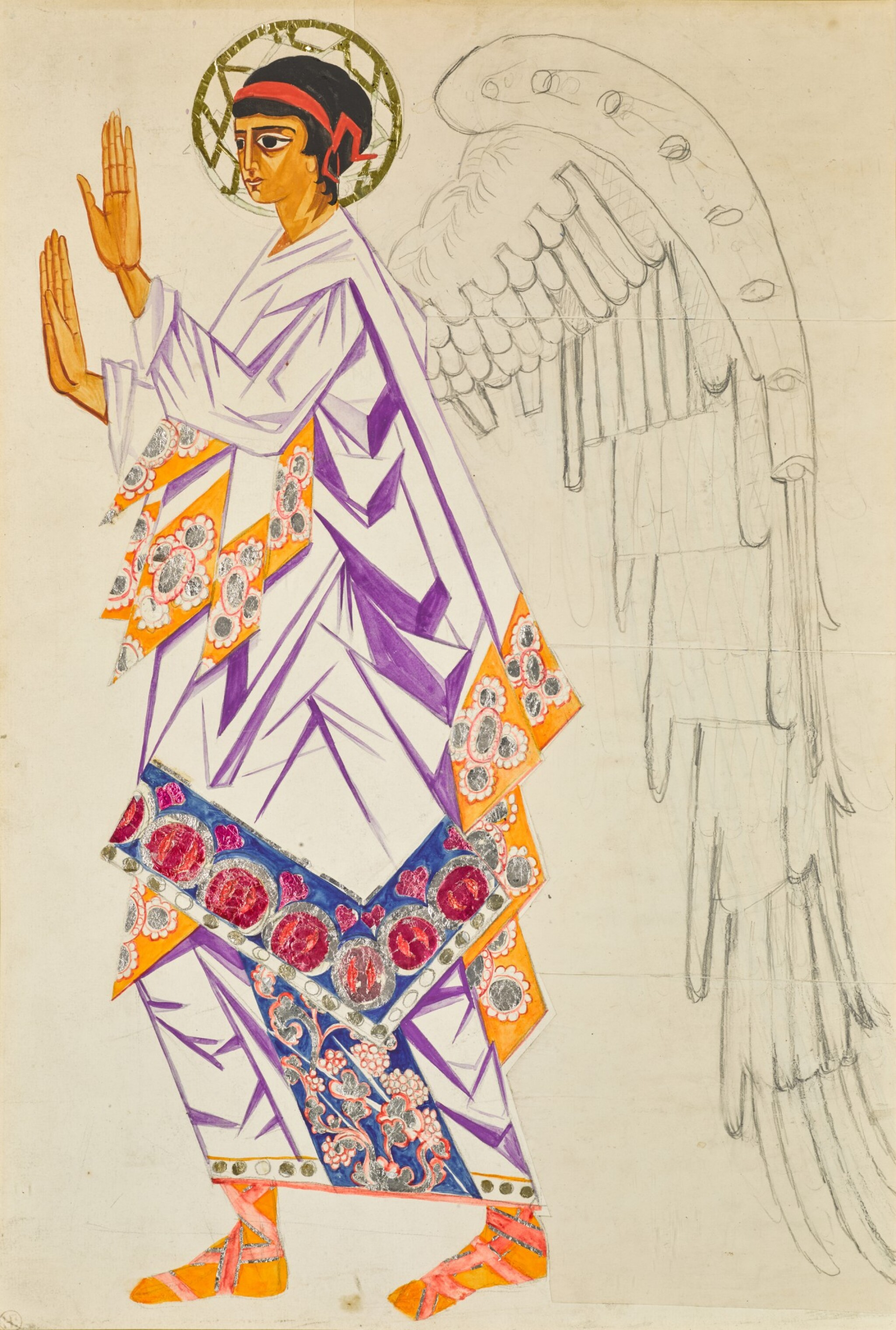 View full screen - View 1 of Lot 66. Costume Design for an Angel in Liturgie.